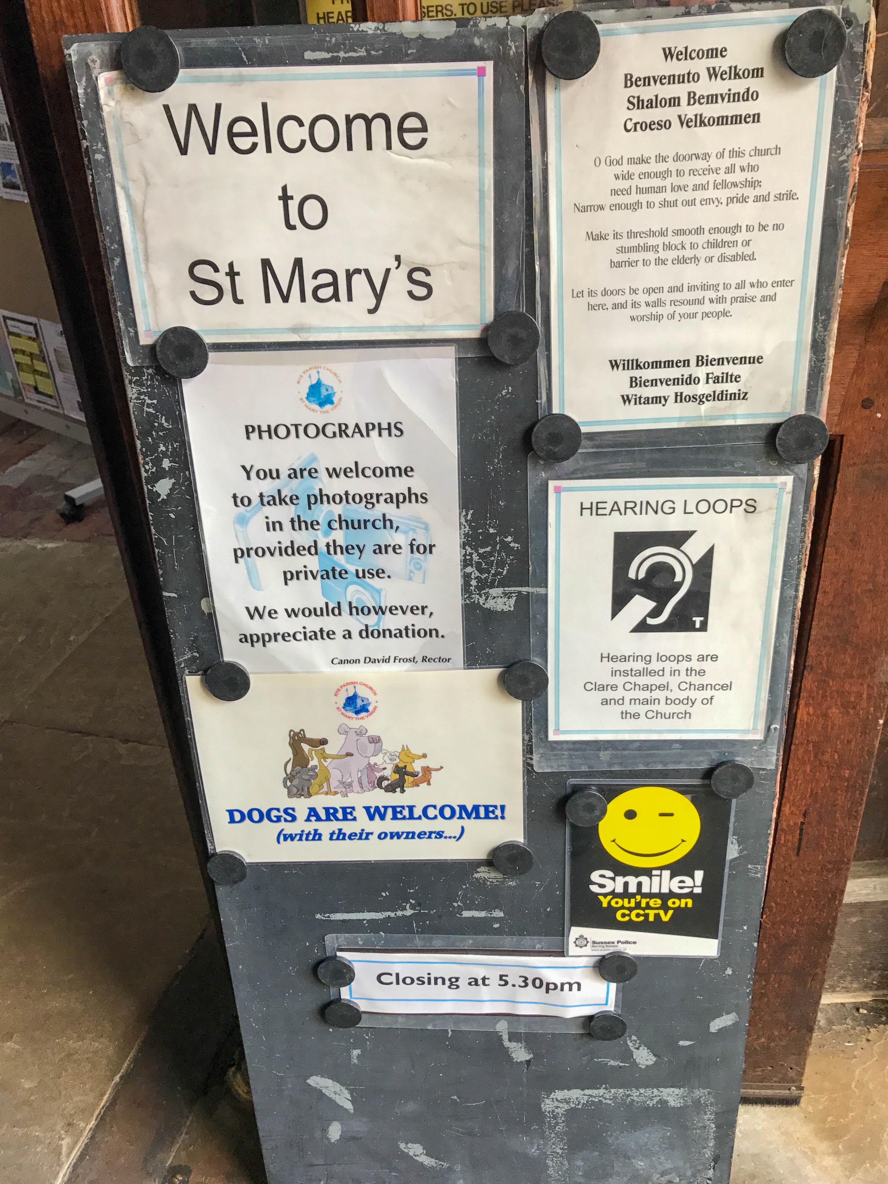 St Mary's Church Eingang
