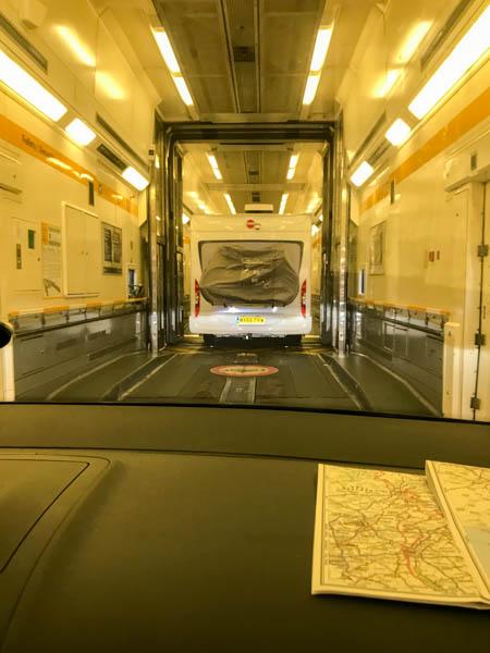 Zug Eurotunnel innen