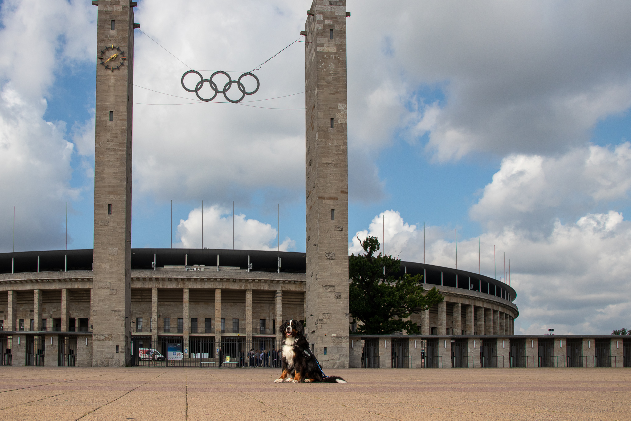 Olympia Stadion Berlin mit Sam