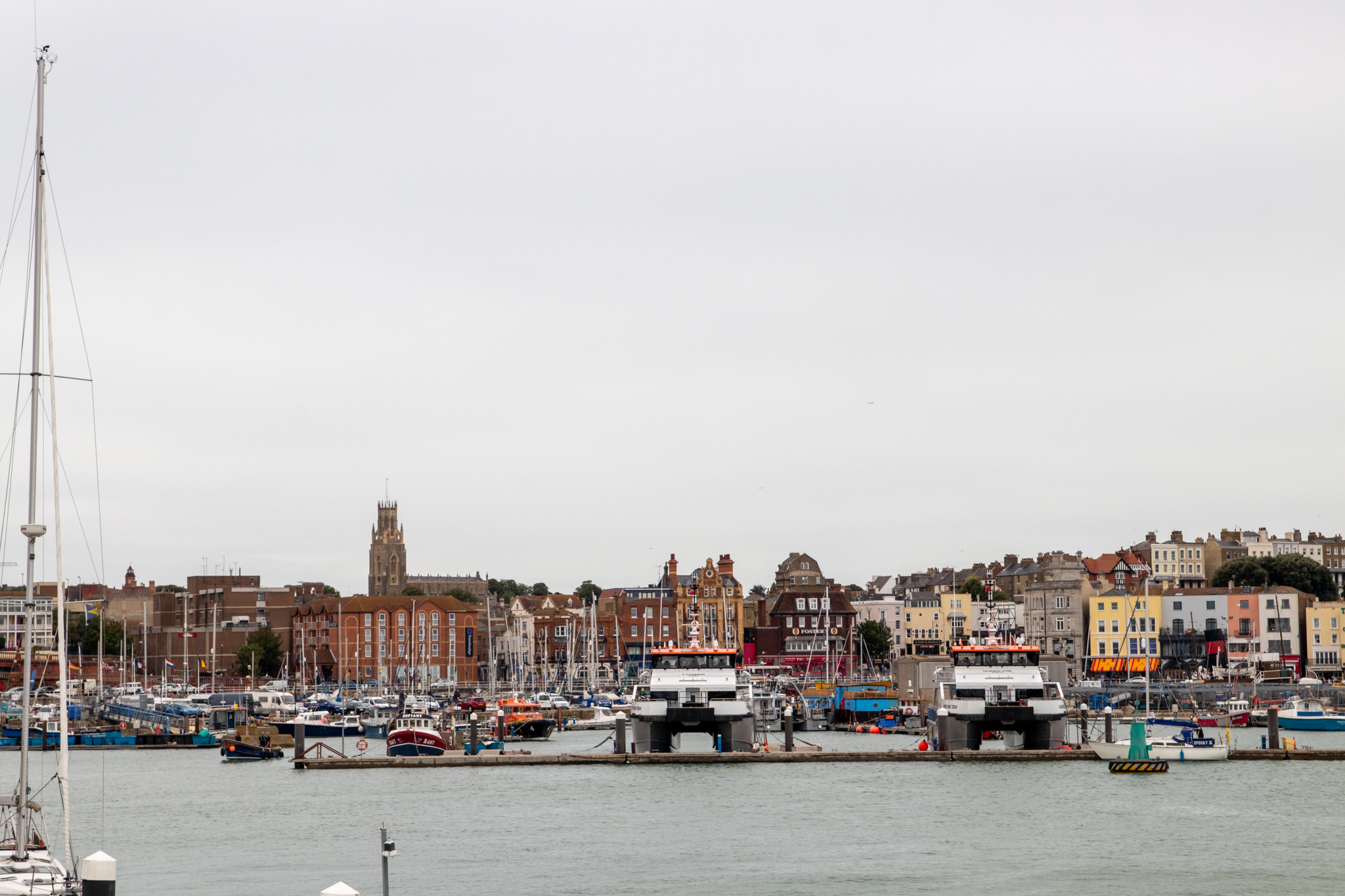Ramsgate Haufen mit Blick auf die Stadt