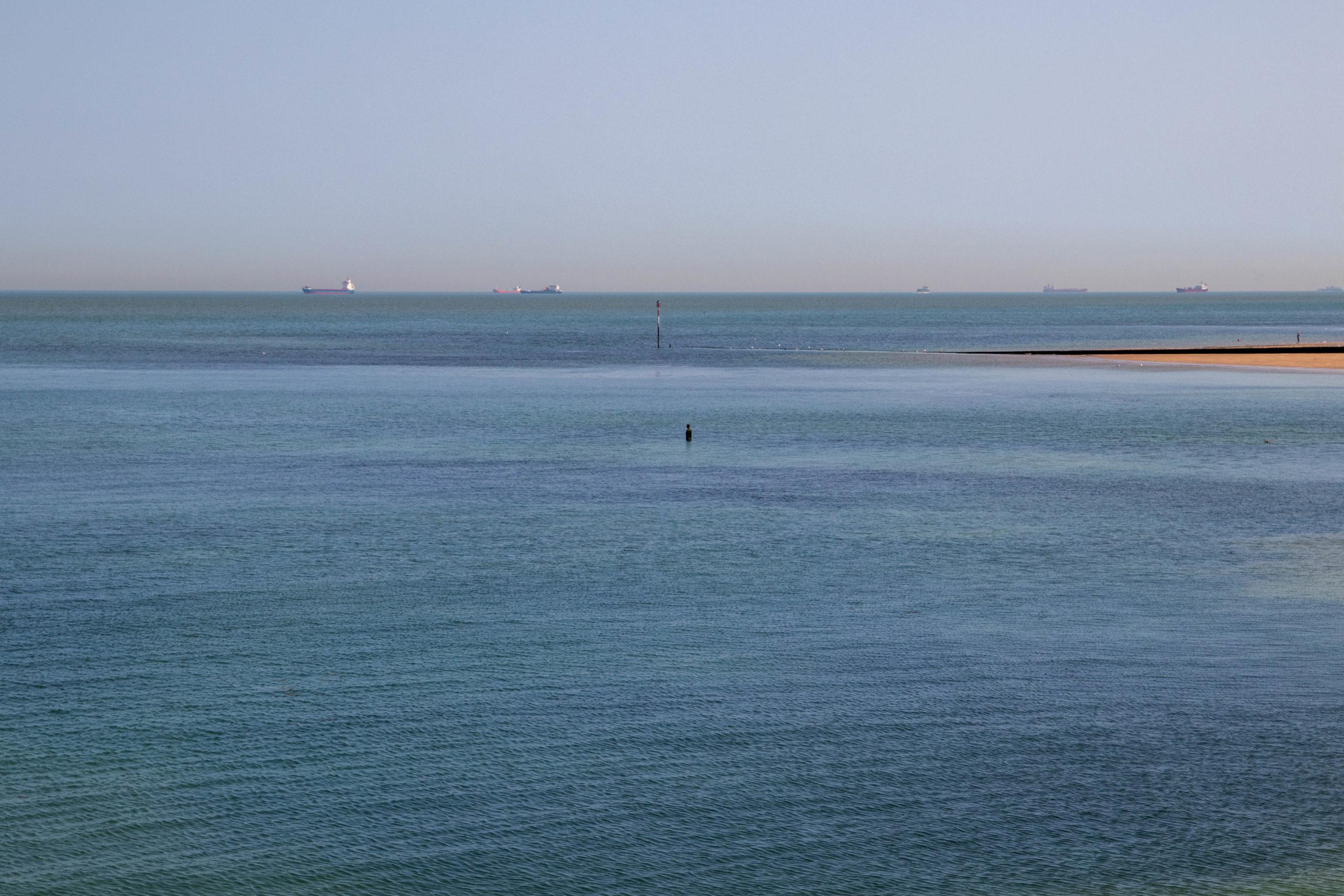 Statue im Wasser